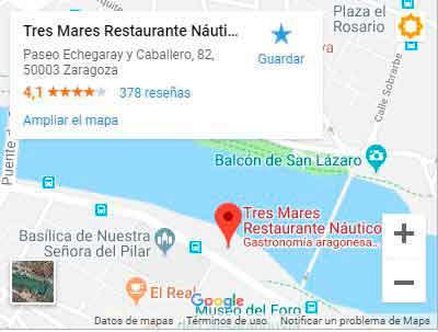 Mapa - Cómo llegar al Restaurante Tres Mares