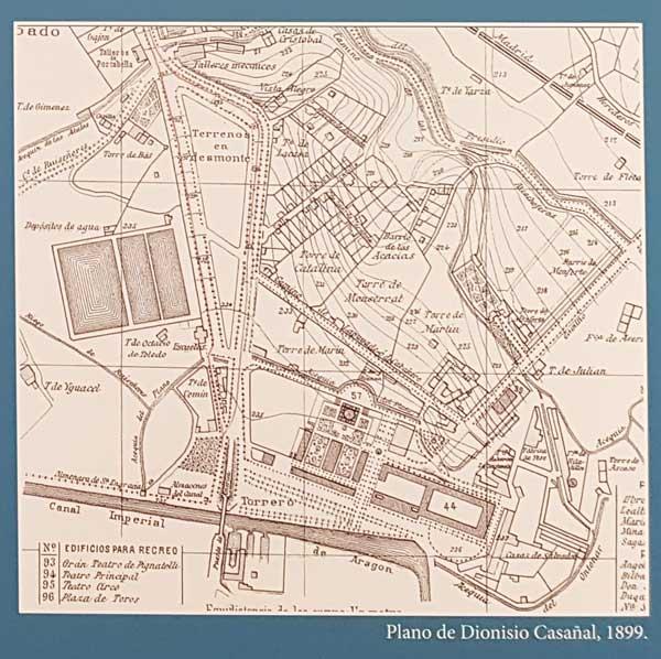 Plano de la ampliación de los depósitos de Pignatelli