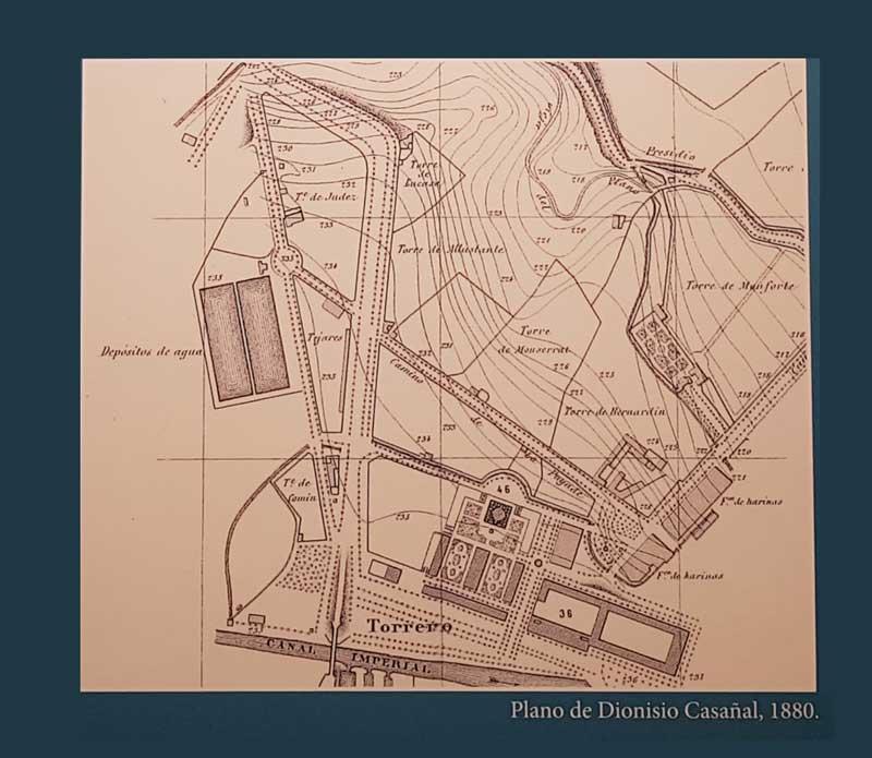 Planos de Diosnisio Cabañal de los antiguos depósitos Pignatelli