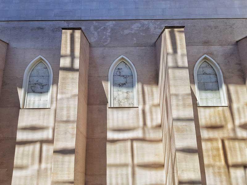 Muro de la capilla del Convento de San Francisco