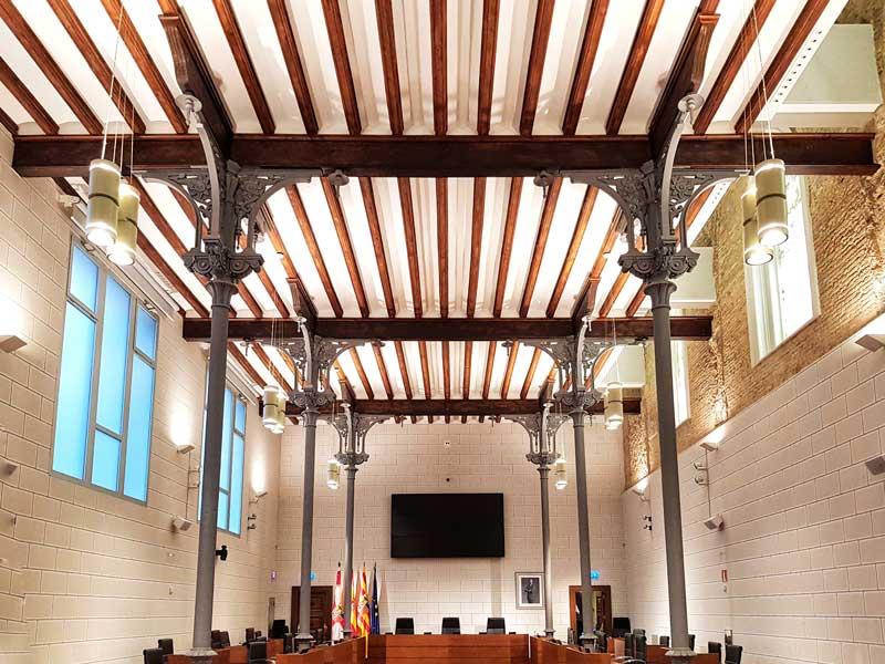 Nuevo salón de plenos del palacio de la Diputación Provincial de Zaragoza