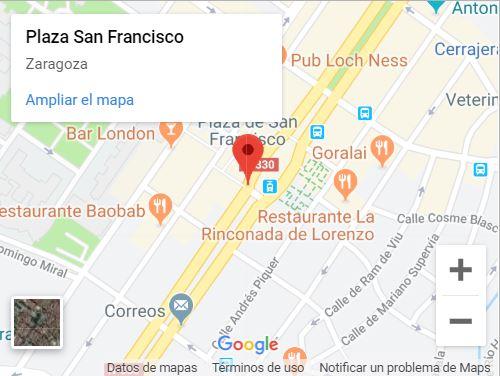 Mapa - Cómo llegar a los fuegos artificiales