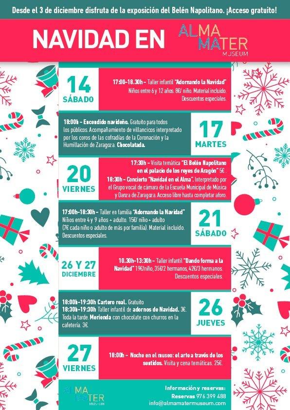 Programación navidad del Alma Mater Museum