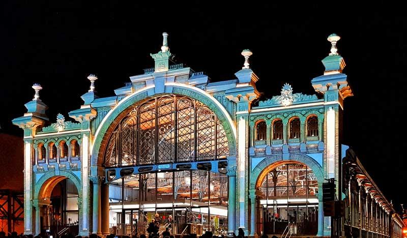 Mapping inauguración Mercado Central