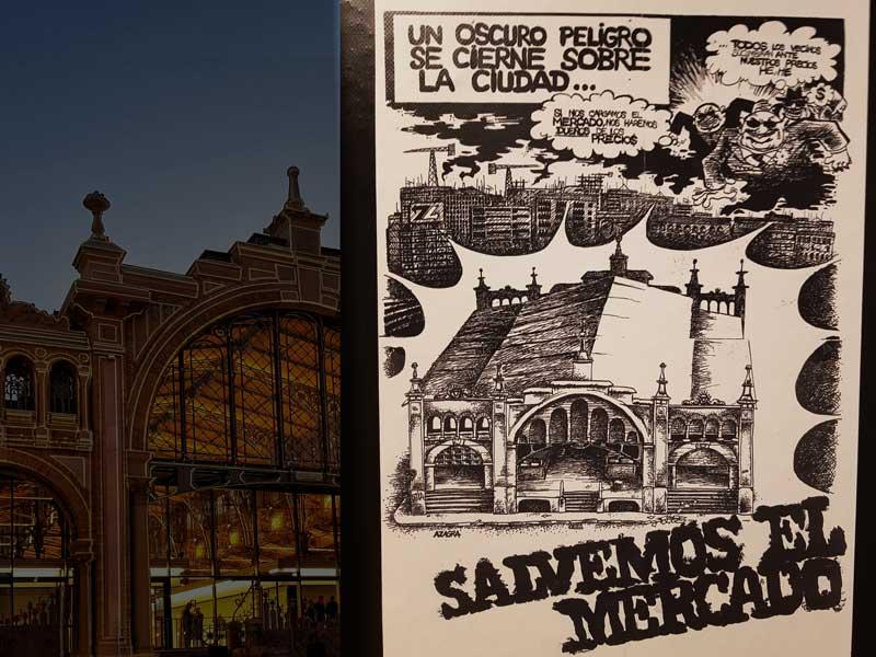Cartel Salvemos el Mercado Central de Zaragoza