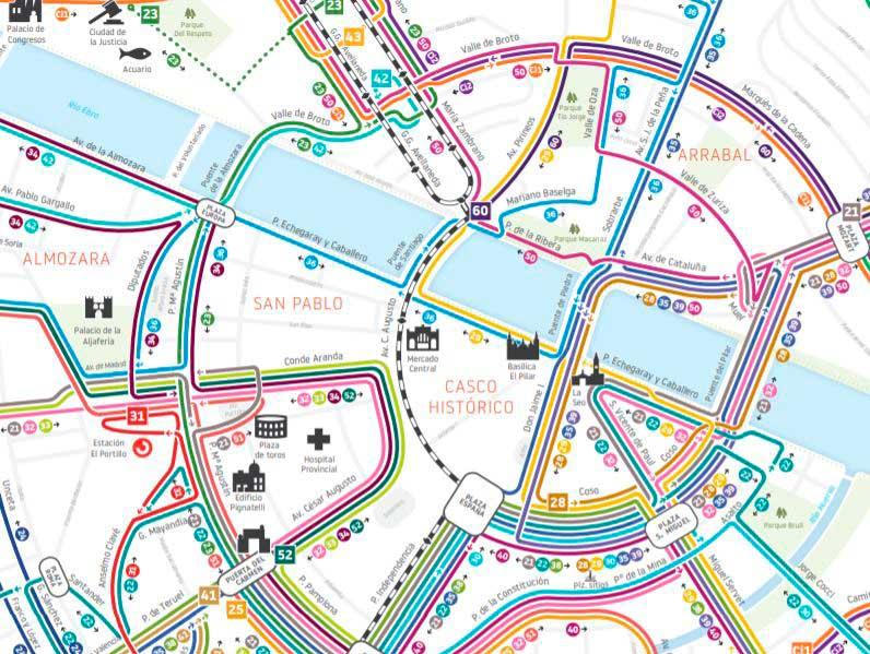 Plano Autobús de Zaragoza